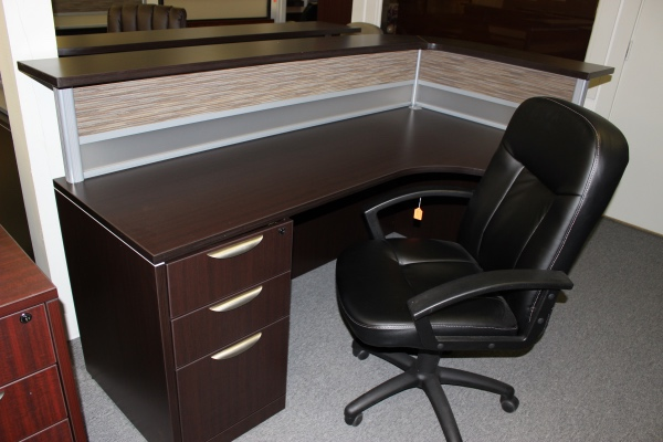 office source american single pedestal work station with american