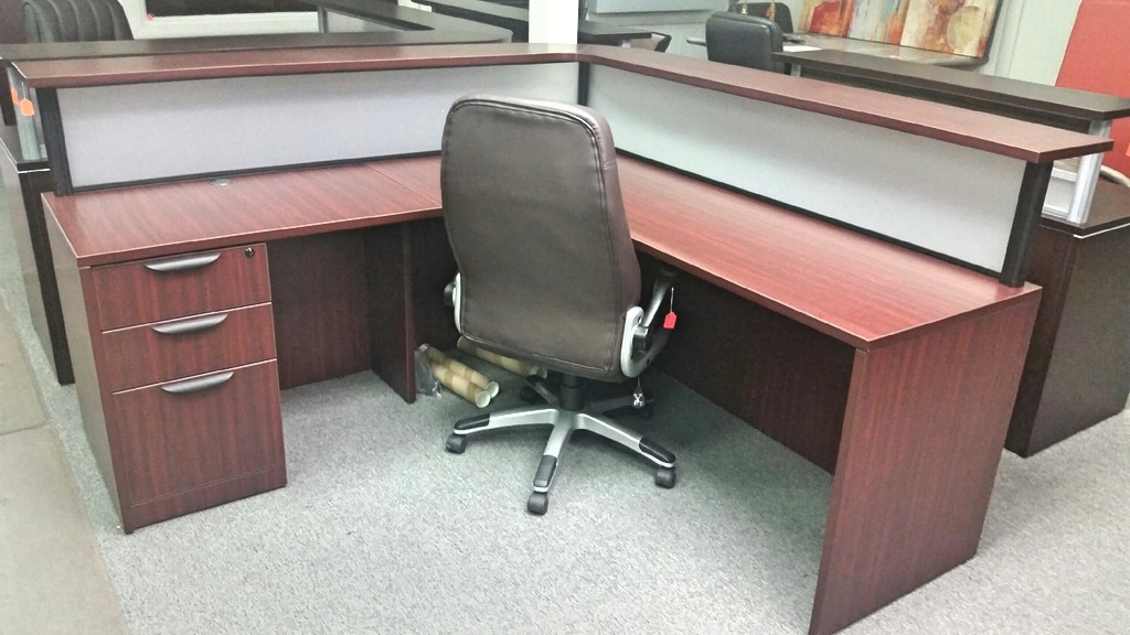Receptionist Desk With Frosted Glass New Inventory A