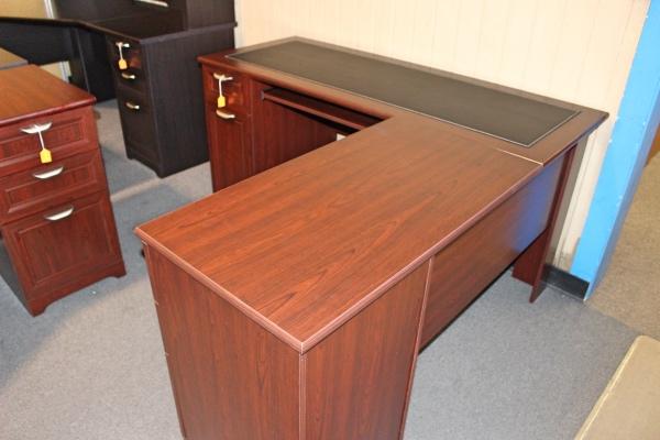 L Shaped Desk With Black Inlay Desks A Affordable