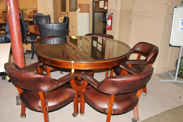 Table With Glass Top And 4 Chairs Humble TX