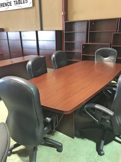 Boat Shaped 8 Foot Conference Table Conference Tables