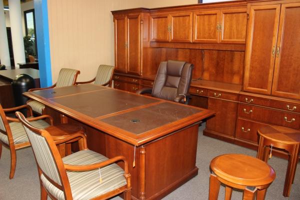 Leather Inlay Desk Desks A Affordable Office Furniture
