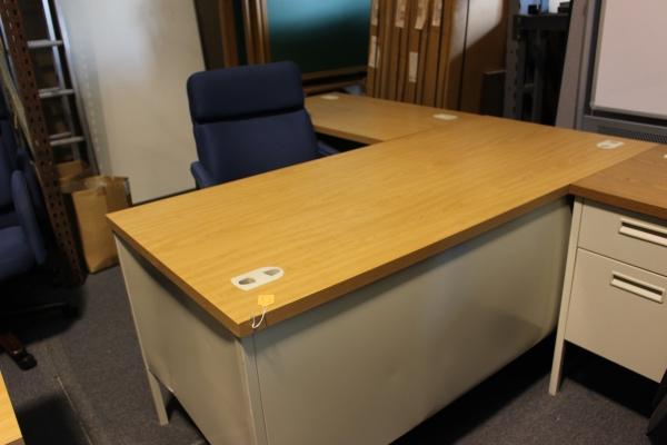 Steel modern l shaped desk used desks a affordable for Modern affordable office furniture