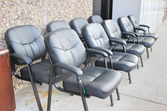 Leather Guest Chairs