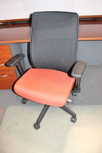Mesh Back Task Chair With Orange Seat Cypress Fairbanks Tx