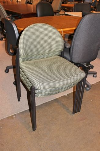 Green Fabric Guest Chairs