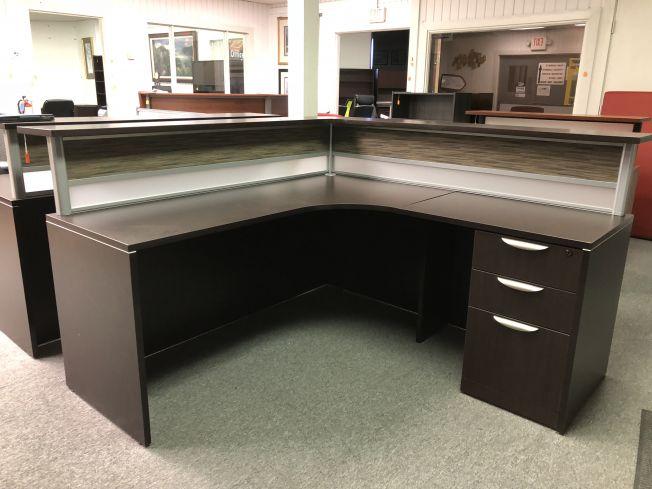 Astonishing Desk L Shape Receptionist Desk Pasadena Tx Desks A Download Free Architecture Designs Rallybritishbridgeorg