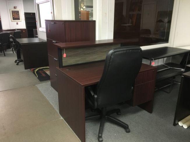 Office Source Pl Series Reception Desk Reception Desks A