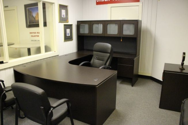 U Shaped Executive Desk With Hutch New Inventory A Affordable
