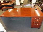 Office Source American Single Pedestal Work Station With